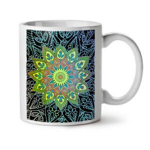 India Shaman Mandala NEW White Tea Coffee Mug 11 oz   Wellcoda