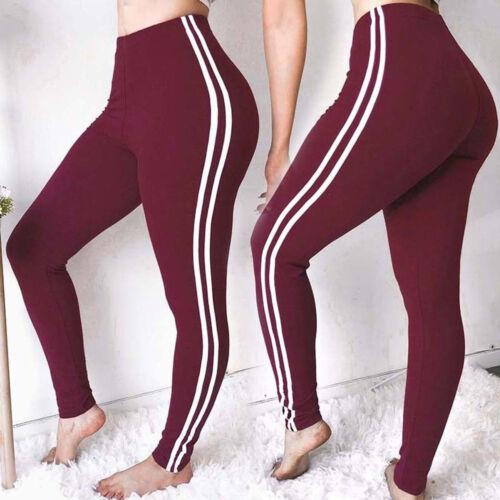 Womens Seamless Leggings Gym Fitness High Waist Running Trouser Yoga Pants Tight