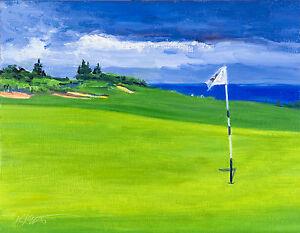 original-landscape-painting-Kapalua-Golf-Course-Green-Impressionism-Keating