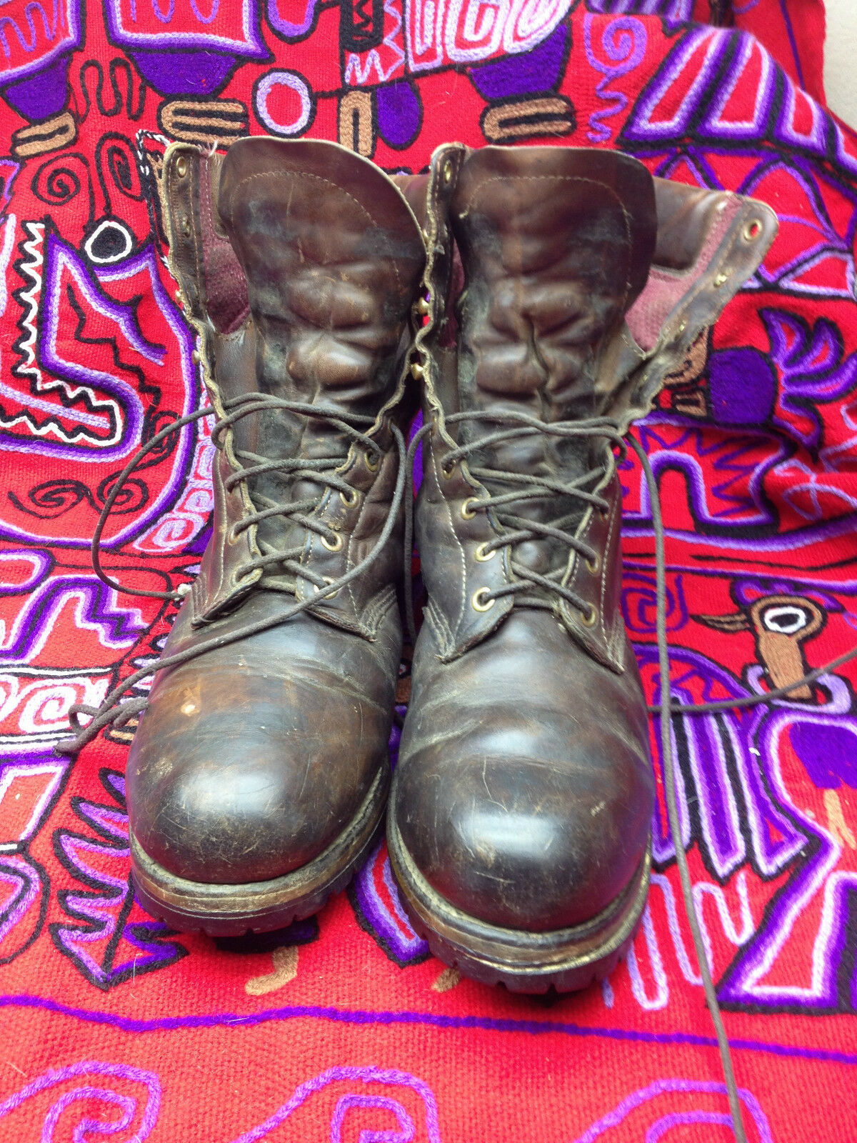 VINTAGE DISTRESSED USA CHIPPEWA LACE UP ENGINEER BOSS BOSS ENGINEER BOOTS 12 W 3cc421