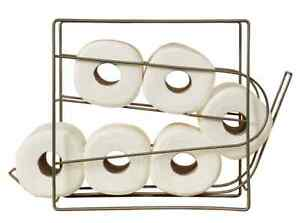 Bathroom Rolling Tissue Toilet Paper Roll Dispenser Cabinet Storage Holder Stand Ebay