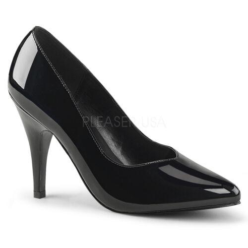 Patent Black Pink Fit Court Label Wide 420 Stiletto Dream Shoes Pleaser SwBXqX