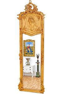 Miroir baroque 178x58cm style louis xv xvi cadre en bois for Acheter miroir baroque