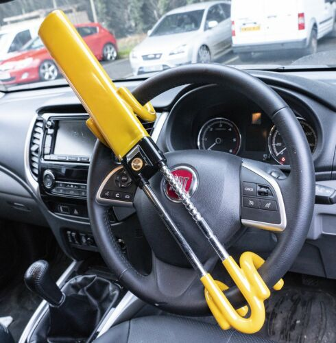 Steering Wheel Lock High Security Anti Theft Twin Bar Chrysler Crossfire Coupe