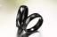 Coppia-Fedi-Fede-Fedine-Anello-Anelli-Nero-Fidanzamento-Nuziali-Cristallo-Occhio miniatura 5