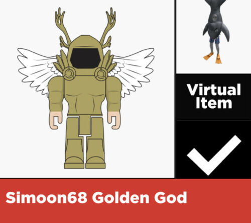 ROBLOX Virtual Game Code Only Sharkbait Simoon68 Golden God Virtual Code
