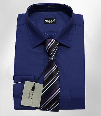 PAGE BOYS NAVY BLUE FORMAL SHIRT AND TIE SET WEDDING PROM SUIT SHIRT UP TO 15 Y