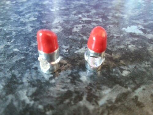 RED ENAMEL LIPSTICK BEAD EUROPEAN CHARM BRACELETS SILVER PLATED