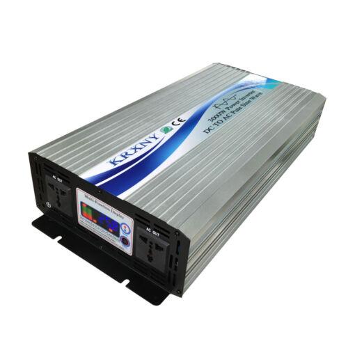 Pure Sine Wave Power Inverter 2500W//3000W 12V//24V//48V to 220V 50HZ Converter LCD