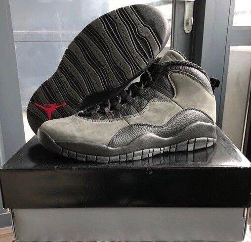 check out 1ee91 bdfaa Nike Air Jordan Retro 10 Dark Shadow Black Gray 310805-002 Men Shoes Size 11