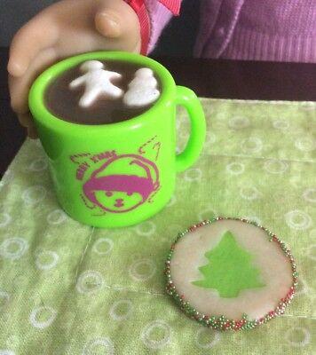 2 pc Christmas Mug w//Hot Coco set A.G.CREATION Doll Play Food