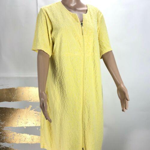 Stan Herman Womens Terry Cloth Zip Robe House Coat