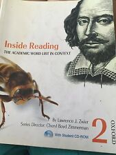 Inside Reading: The Academic Word List in Context Pack by Cheryl Boyd...