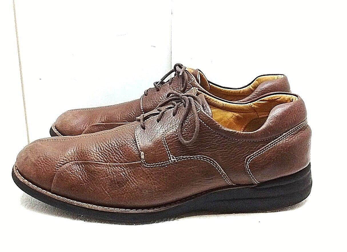 Johnston Murphy Men Brown Leather Oxford Split Toe Casual Dress Comfort shoes 15M