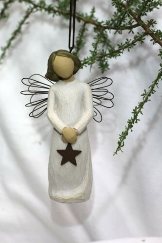 ANGEL of Light ornament STAR hanging WILLOW Baby Shower wedding Graduation GIFT