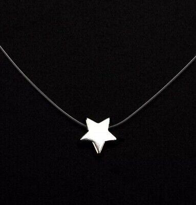 Halskette unsichtbare Nylon Kette schwebender Stern Silber Damen Modeschmuck   eBay