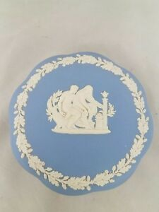 Wedgwood Style Trinket Dish Blue Jewelry Box Wedgwood Style Jewelry Box Wedgwood Style Trinket Box Blue Trinket Box Blue Ring Dish