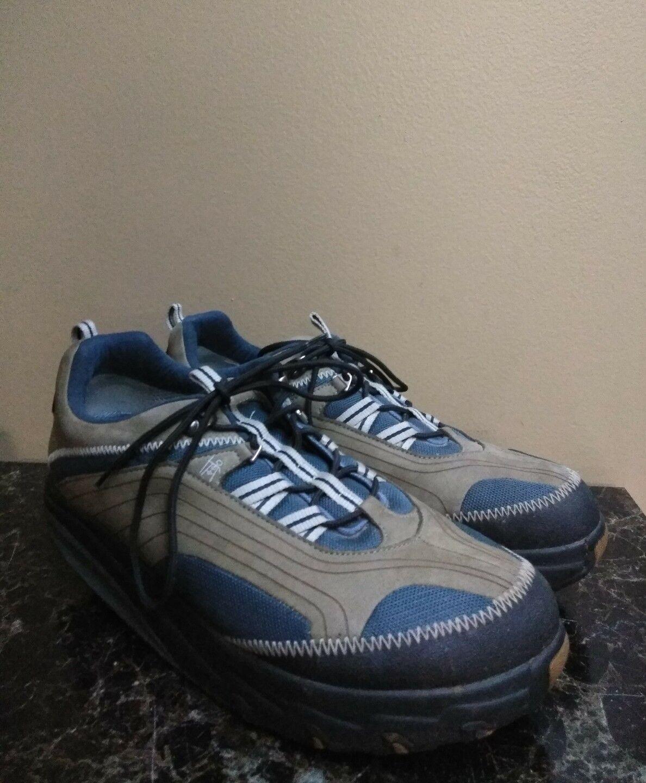 MBT CHAPA MENS NAVY blueE BROWN TONING WALKING SHOE- SZ 12.5 (EU 47)