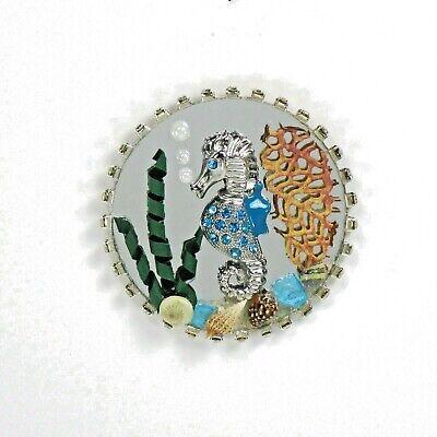 Wmh Dollhouse Miniature Ocean Seahorse Mirror Wall Hanging Ebay