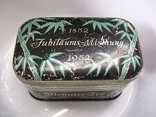 MEßMER-Tee Teedose Blechdose Blättermotiv Löffel Teelöffel Jubiläumsdose 1952