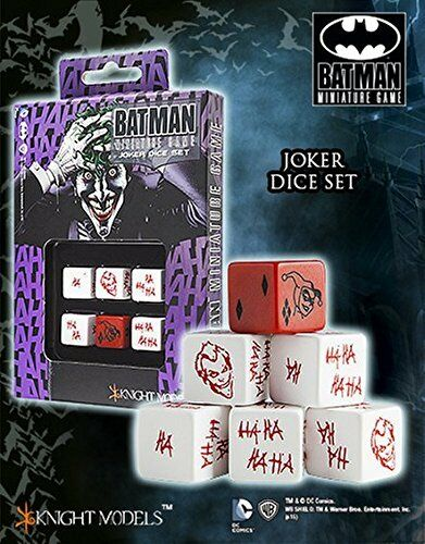 D6 Joker Dice Set 6 Batman Miniature Game
