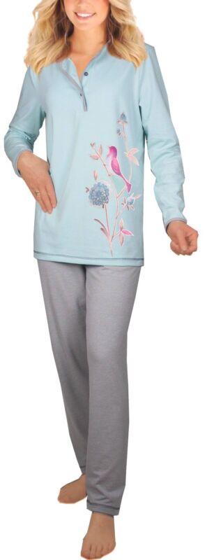 Damen-pyjama Schlafanzug (dw230) Gr. 50-52 Baumwolle-jersey
