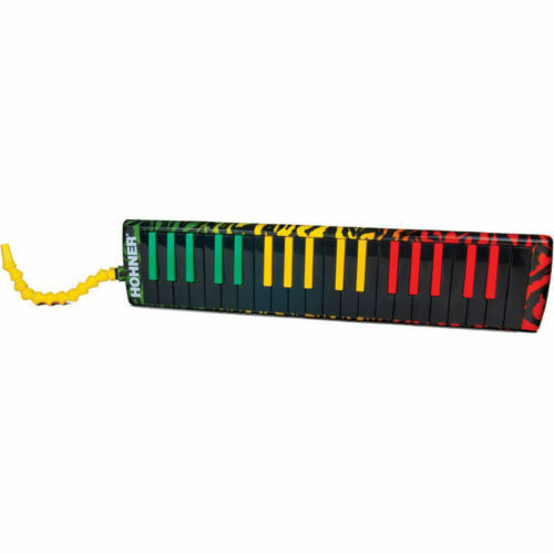 Hohner Melodica Airboard Rasta Tri-Farbe Padded Gig Bag with Strap 32 Key
