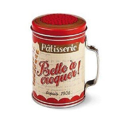 Metalldose Puderzucker Zucker Patisserie Belle a croquer Vintage Retro Natives