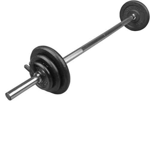 Langhantelset Langhantelstange Hantelset Hantelscheiben 20 kg Gusseisen Gewichte