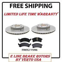 Set Of 2 Disc Brake Rotors & Semi Metallic Pads- Front 5580x2 -vs506llw