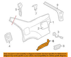 [DHAV_9290]  Cadillac GM OEM 98-04 Seville Quarter Panel-Filler Panel Left 25648004   98 Cadillac Sts Engine Diagram      eBay