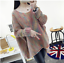 Warm Loose Knitting Women's Casual Sweater Pullover Blouses Sleeve Winter Long 6pAwXfqTx