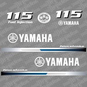 decal aufkleber adesivo sticker set Yamaha 115 four stroke outboard 2000