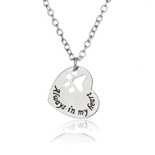 Fashion Silver Women Chain Choker Necklace Paw Charm Heart Pendant For Girls New
