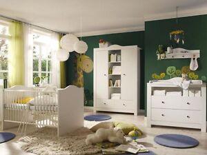 Kinderzimmer komplett weiß  Babyzimmer Lucca 2 Weiss/Weiss 5 tlg. Kinderzimmer komplett ...