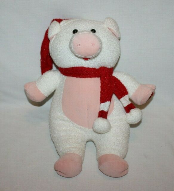 """Singing Pig Christmas Toy Plush 16"""" Oink Sings Holiday ..."""