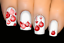 thumbnail 1 - Red-Baubles-Christmas-Nail-Decal-Xmas-Water-Transfer-Sticker-Tattoo