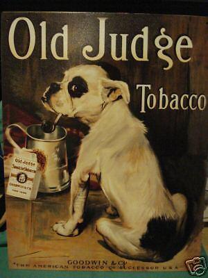Old Judge Tobacco Tin Sign