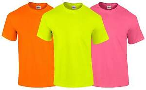 gildan mens neon t shirt s 5xl fluorescent bright