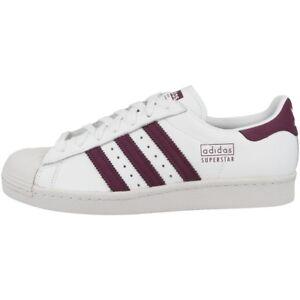 white maroon Sneaker Retro Freizeit 80s Schuhe Adidas Sport Details CM8439 Superstar zu 3RL4jqA5