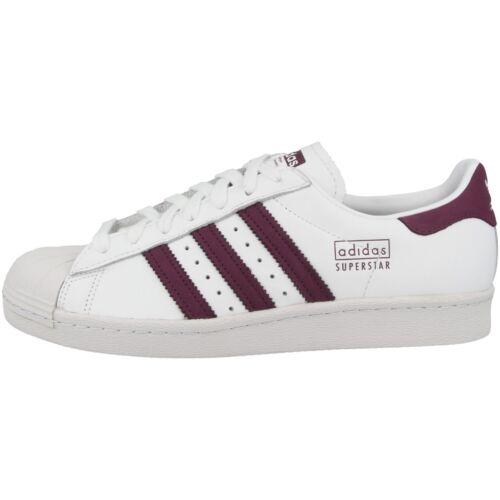 Chaussures 80s Adidas Rétro Bordeaux Sports Et Superstar Blanc Baskets Loisirs Pqqw6