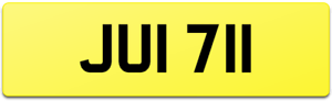 JUNI 1 ? DATELESS NUMBER PLATE JUI 711 JUNAID JUL JU JULIE JR JNR JULIAN JUN JUE