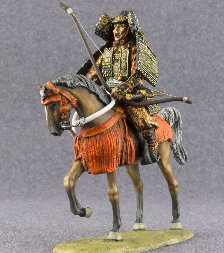 Hand Painted Toy Soldiers Medieval 1 32 Japanese Samurai Bowman Cavalryman 54mm