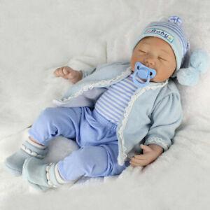 "22/"" Lifelike Handmade Newborn Reborn Silicone Doll Baby /& Clothes Kids Gift ☆."