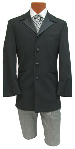 Black Tuxedo Jacket with Houndstooth Pants Steamp… - image 1