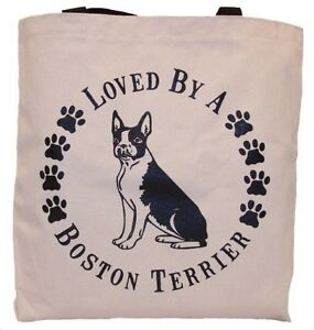 Loved-By-A-Boston-Terrier-Tote-Bag-New-MADE-IN-USA