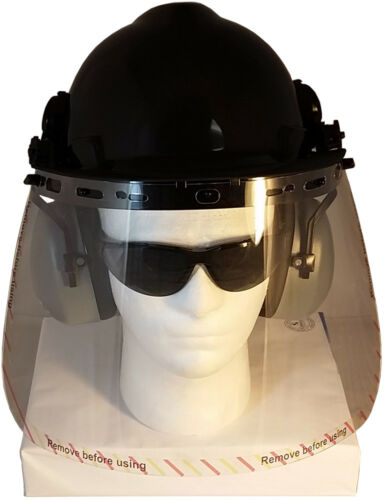 "BLACK MSA CS Hard Hat /""CHAINSAW SAFETY KIT/"" Face Shields-Attachments-Earmuffs"