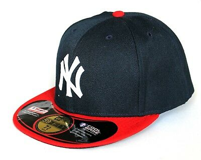 NY New York Adults 59Fifty 7 1//2 /& 7 5//8 Navy Blue /& Red Cool Base Baseball Cap