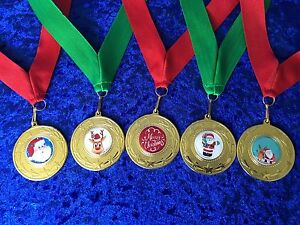 Christmas-Party-Medals-Santa-Father-Christmas-Rudolph-Xmas-Festive-Bargain