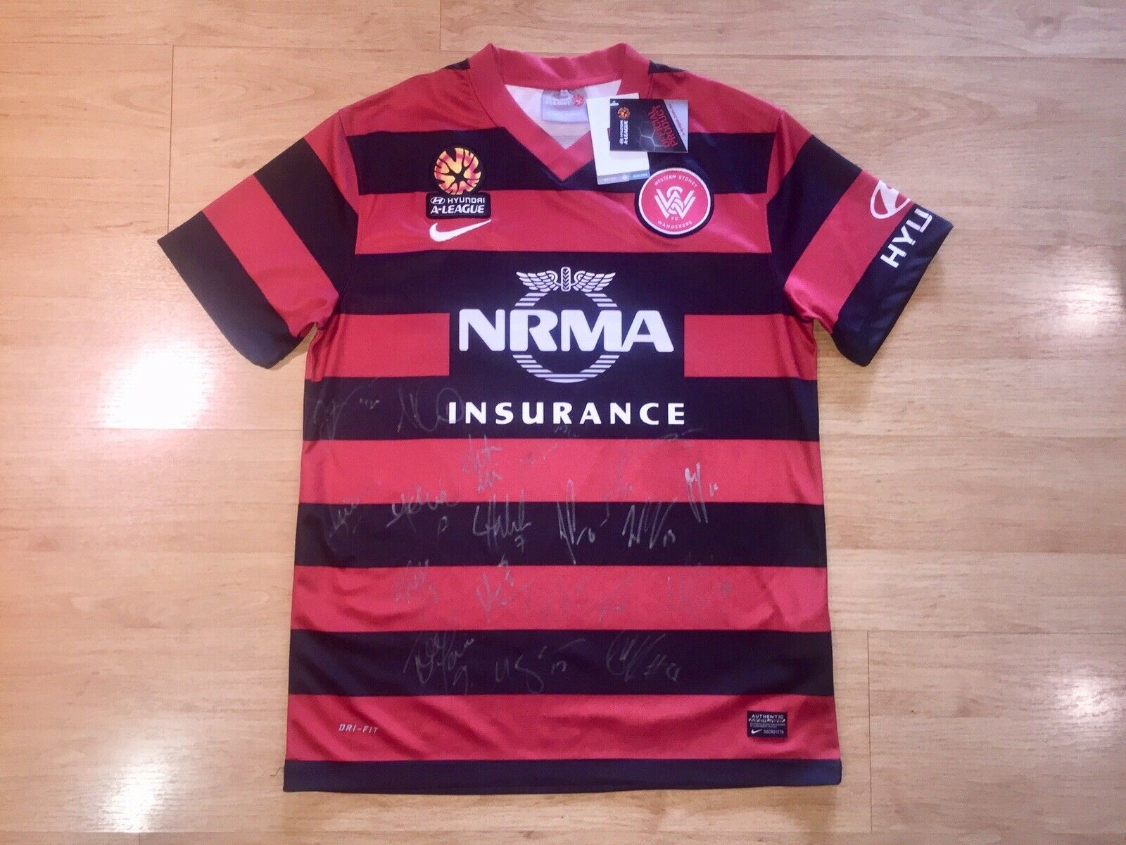 WESTERN SYDNEY WeERERS 2013204 SIGNED 20 SIGNATURES HOME HOME HOME SHIRT JERSEY MEDIUM 149